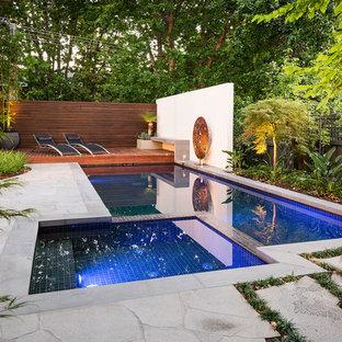 Modelo de piscina contemporánea rectangular