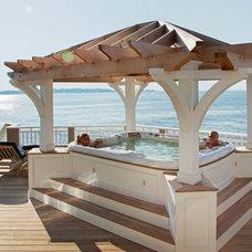 Beach Style Pool by Howell Custom Building Group