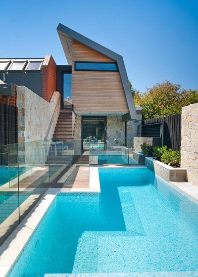 Contemporary Pool by i2 Homes
