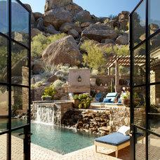 Mediterranean Pool by Wiseman & Gale Interiors