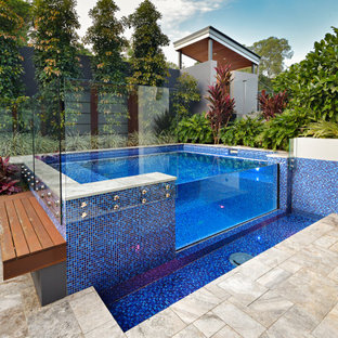 Inspiration for a contemporary pool in Brisbane.