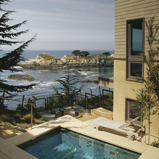 This is an example of a beach style rectangular pool in San Francisco.