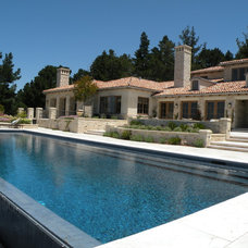Mediterranean Pool by Frank & Grossman Landscape Contractors, Inc.