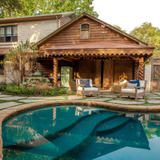 Rustic Pool by Key Residential