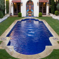 Mediterranean Pool by Estate Pools & Landscapes
