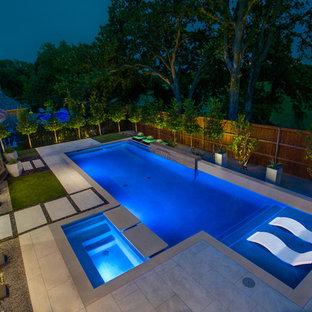 Cascade Springs Modern Pool