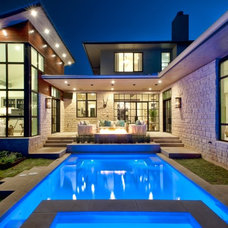Contemporary Pool by Palisade Pools
