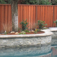 Traditional Pool by Laura Frost Design