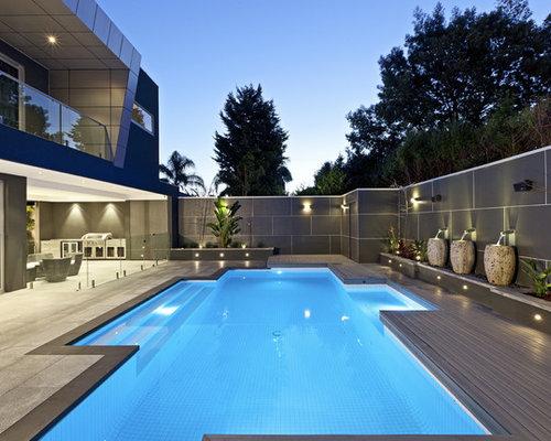 Modern modwood deck pool design ideas renovations photos for Contemporary pool design