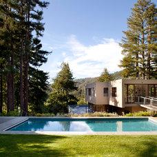 Modern Pool by Kasten Builders
