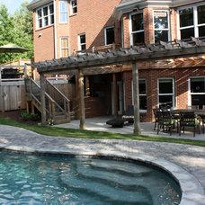 Mediterranean Pool by Shady Grove Landscape Company