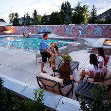 Traditional Pool by Platinum Landscape LLC