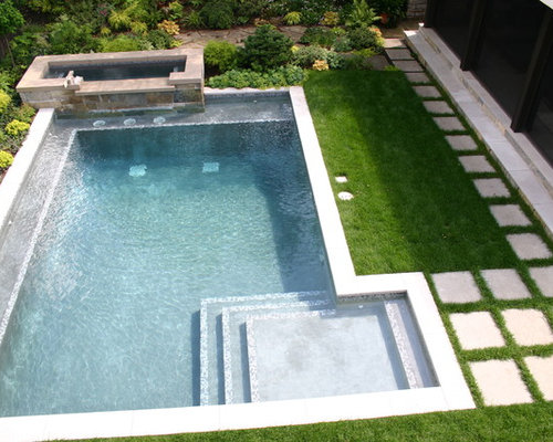 Small inground pool houzz for Small modern house with pool