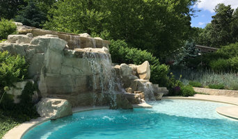 Custom Pool with Rock Waterfall Feature