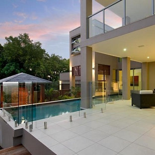 central pool and alfresco living area