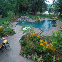 eclectic pool by Land & Water Design