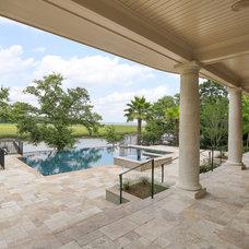 Mediterranean Pool by Charleston Home + Design Mag