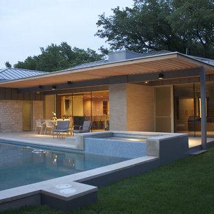 Inspiration for a modern rectangular pool remodel in Austin