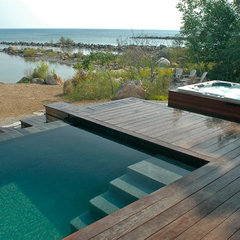 contemporary pool by Altius Architecture Inc