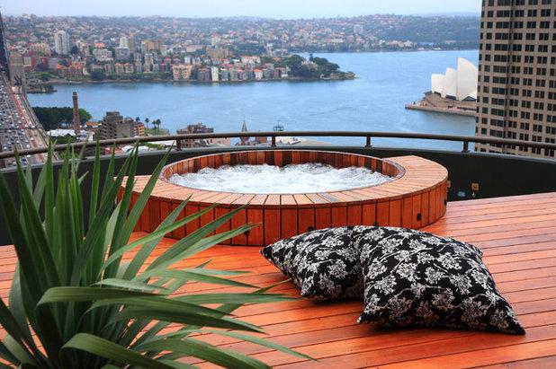 Contemporary Pool by Secret Gardens