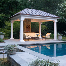 Traditional Pool by SURROUNDS Landscape Architecture + Construction