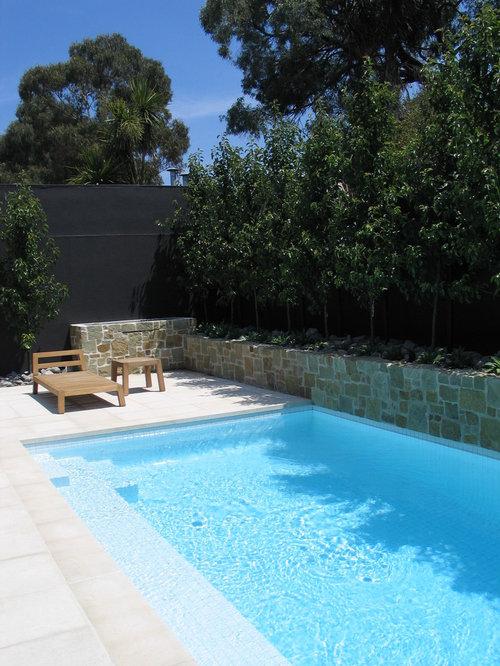 Petite piscine avec des pav s en b ton photos et id es for Petite piscine beton