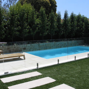 Classic family pool and landscape