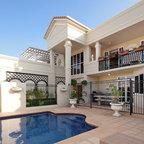 Noosa villa by design unity mediterranean pool for Casa classica porcelain tile