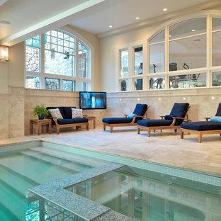 Inspiration för en vintage pool