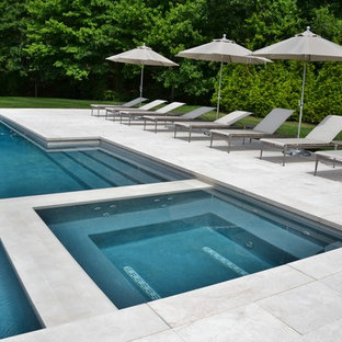 Clean and Modern Swimming Pool with Spa