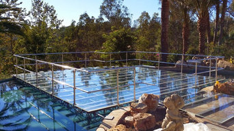 Clear Acrylic Pool Cover over Swimming Pool for Wedding Dance Floor