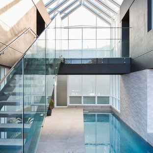 Contemporary pool.