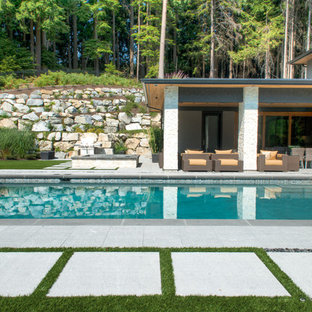Pool - contemporary rectangular pool idea in Vancouver