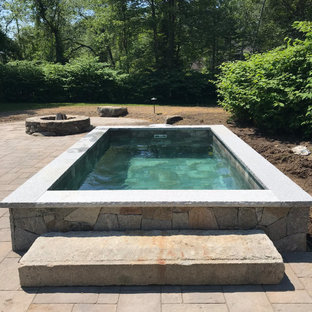 Coastal Maine Backyard Living Space Addition with Plunge Pool