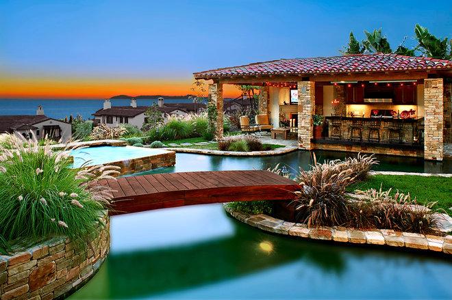 Mediterranean Pool by Rene Grivel & Associates Inc