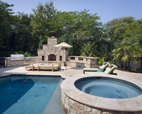 Contemporary Pool by Dewson Construction Company