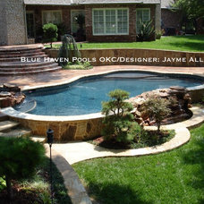 Traditional Pool by J. Allen Designs