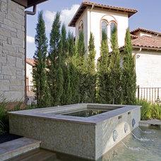 Mediterranean Pool by Sendero Homes