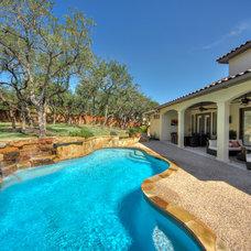 Mediterranean Pool by Adam Wilson Custom Homes