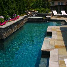 Traditional Pool by J. Brownlee Design