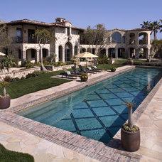 Mediterranean Pool by James Glover Residential & Interior Design