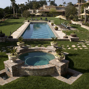 Inspiration for a mediterranean pool remodel in Orange County