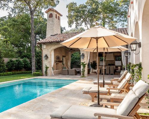 Mediterranean houston pool design ideas remodels photos for Pool design houston