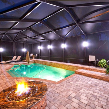 Color Changing LED Sconce Lights for Pool Enclosures