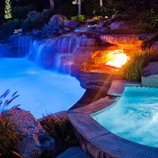 Tropical Pool by Cipriano Landscape Design & Custom Swimming Pools