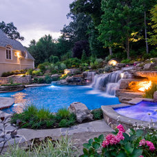 Mediterranean Pool by Cipriano Landscape Design & Custom Swimming Pools