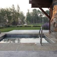 Rustic Pool by RLake Construction