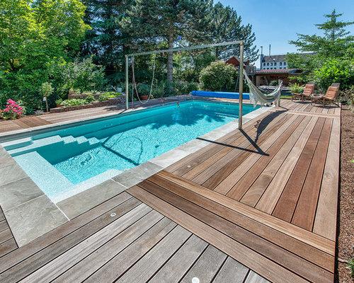 Pool Ideen moderner pool mit wasserspiel ideen design bilder houzz