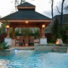 Traditional Pool by Stewart Land Designs