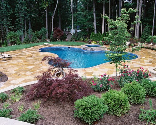 Rustikaler Pool In Newark - Ideen & Swimming Pool Design | Houzz 18 Ideen Inspirationen Pool Im Haus